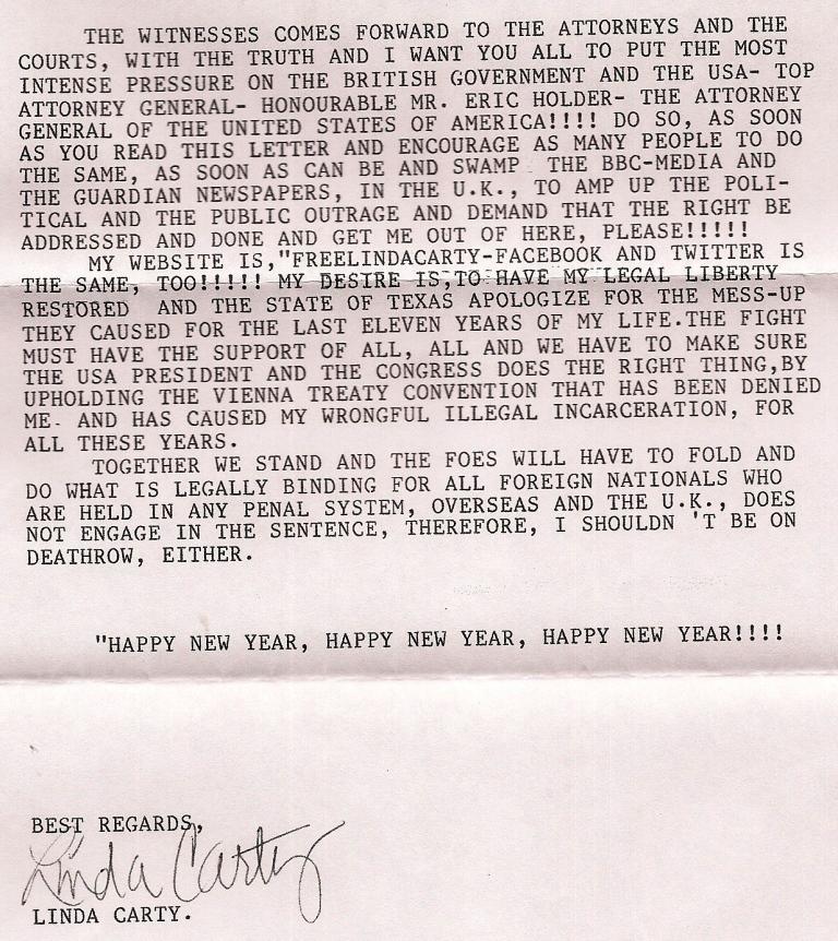 Linda Carty on Death Row Texas